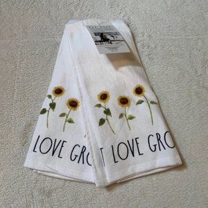 Rae Dunn Let Love Grow Set of 2 Kitchen Towels